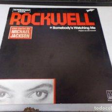 Discos de vinilo: ROCKWELL, SOMEBODY'S WATCHING ME, CON COROS DE MICHAEL JACKSON 1983. Lote 258941310