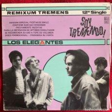 Discos de vinilo: LOS ELEGANTES. 4 TEMAS: SOY TREMENDO, MAXI SINGLE. Lote 258980125