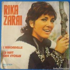 Discos de vinilo: SINGLE / RIKA ZARAI - L'HIRONDELLE, 1972. Lote 258995340
