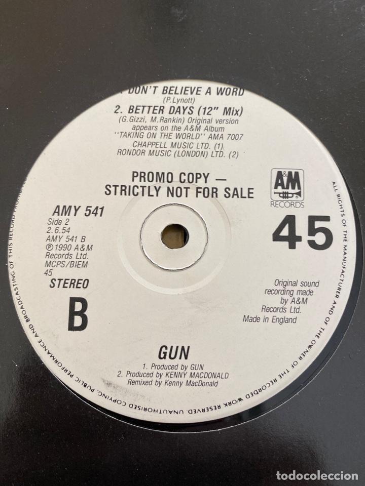 """Discos de vinilo: Gun - Taking On The World (12"""", Single, Promo) (A&M Records) AMY 541 (1990/UK) - Foto 2 - 258999605"""