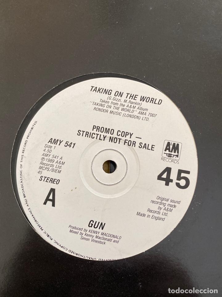 "GUN - TAKING ON THE WORLD (12"", SINGLE, PROMO) (A&M RECORDS) AMY 541 (1990/UK) (Música - Discos de Vinilo - Maxi Singles - Heavy - Metal)"