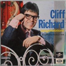 Discos de vinilo: CLIFF RICHARD//CONGRATULATIONS+3//EP//EUROVISIÓN,68//COLUMBIA PORTUGAL. Lote 259055485