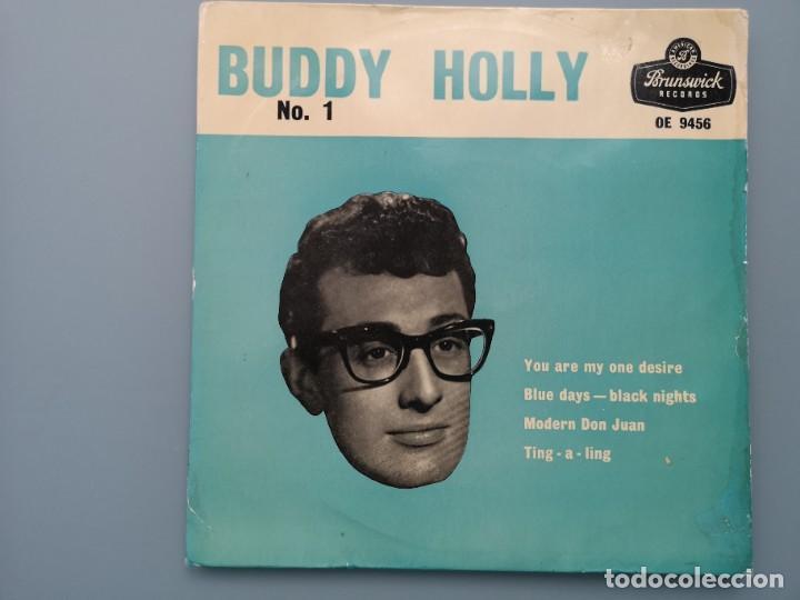 DIFICIL EP BUDDY HOLLY Nº 1 ED INGLESA BRUNSWICK 1960 OE 9456 EDDIE COCHRAN ELVIS GENE VINCENT (Música - Discos de Vinilo - EPs - Rock & Roll)