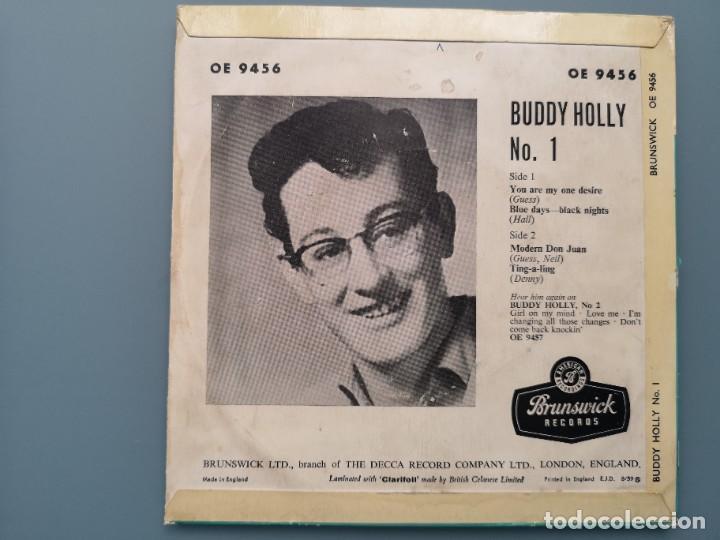 Discos de vinilo: DIFICIL EP BUDDY HOLLY Nº 1 ED INGLESA BRUNSWICK 1960 OE 9456 EDDIE COCHRAN ELVIS GENE VINCENT - Foto 2 - 259241085