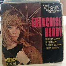 Discos de vinilo: FRANÇOISE HARDY - PIENSO EN EL AMOR - EP - HISPAVOX. Lote 259282180