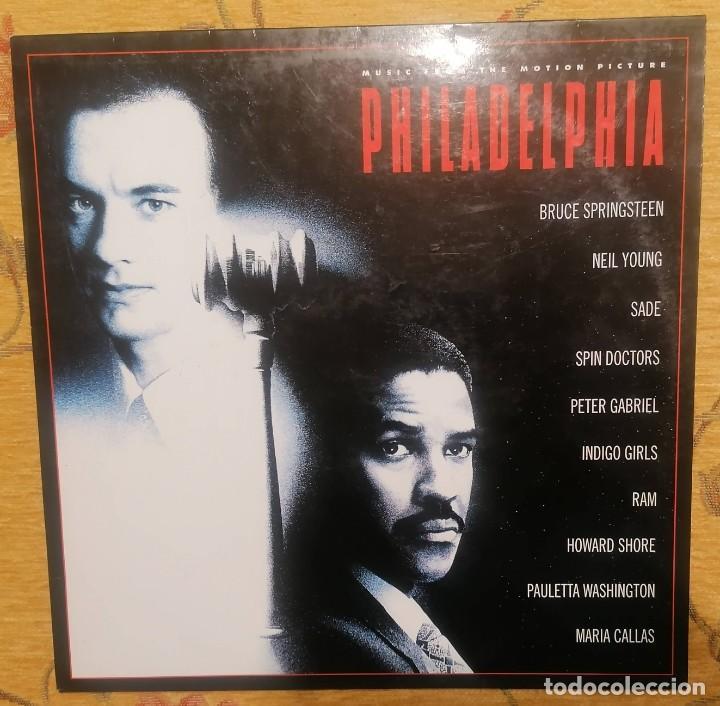 DISCO VINILO LP PHILADELPHIA - BRUCE SPRINGSTEEN, NEIL YOUNG, SADE, MARÍA CALLAS ETC... - (Música - Discos - LP Vinilo - Bandas Sonoras y Música de Actores )