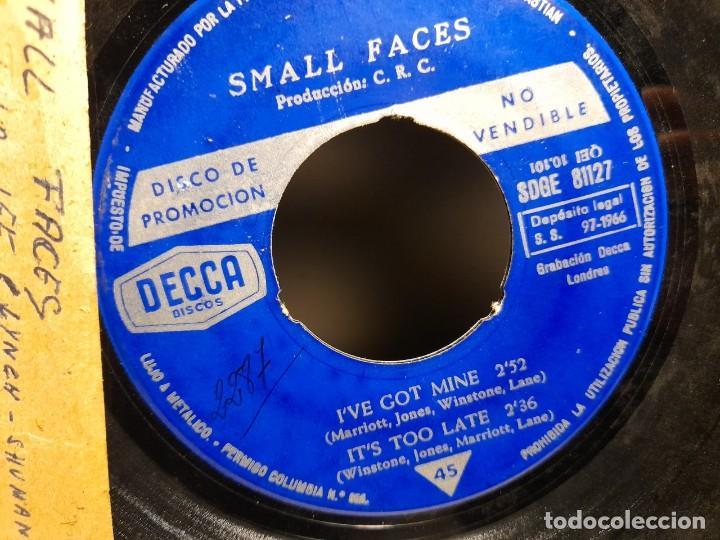 Discos de vinilo: EP SMALL FACES : SHA-LA-LA -LEE ( PROMOCIONAL, EDICION ESPAÑA, 1966) SIN CUBIERTA - Foto 2 - 259718880