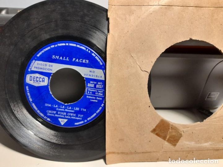 Discos de vinilo: EP SMALL FACES : SHA-LA-LA -LEE ( PROMOCIONAL, EDICION ESPAÑA, 1966) SIN CUBIERTA - Foto 3 - 259718880