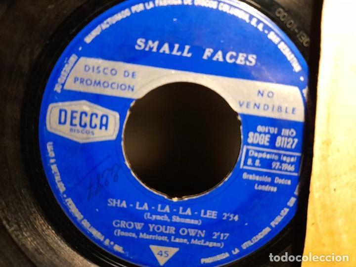 Discos de vinilo: EP SMALL FACES : SHA-LA-LA -LEE ( PROMOCIONAL, EDICION ESPAÑA, 1966) SIN CUBIERTA - Foto 4 - 259718880