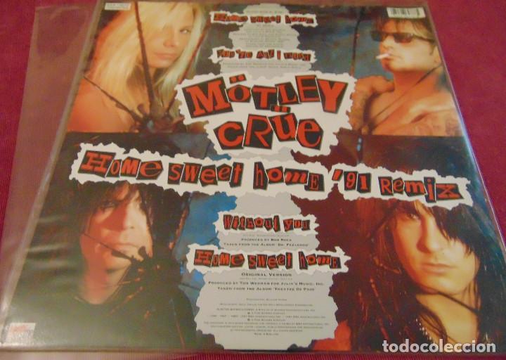 Discos de vinilo: Mötley Crüe – Home Sweet Home 91 Remix - maxisingle picture disc 1991 - Foto 3 - 258758890