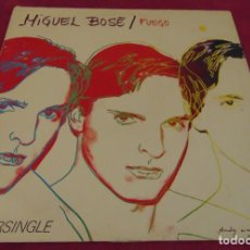 Discos de vinilo: MIGUEL BOSÉ – FUEGO - MAXISINGLE 1983 PORTADA ANDY WARHOL. Lote 258760985