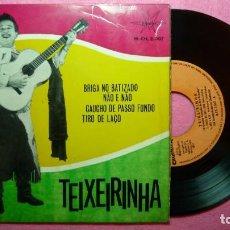 Discos de vinilo: EP TEIXEIRINHA - BRIGA NO BATIZADO +3 - MARFER M.CH.2007 - SPAIN PRESS - 1965 (VG+/VG+). Lote 259814940