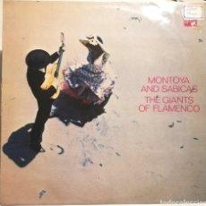 Discos de vinilo: MONTOYA Y SABICAS (LP STATESIDE, 1961) HOLANDA. Lote 259828195