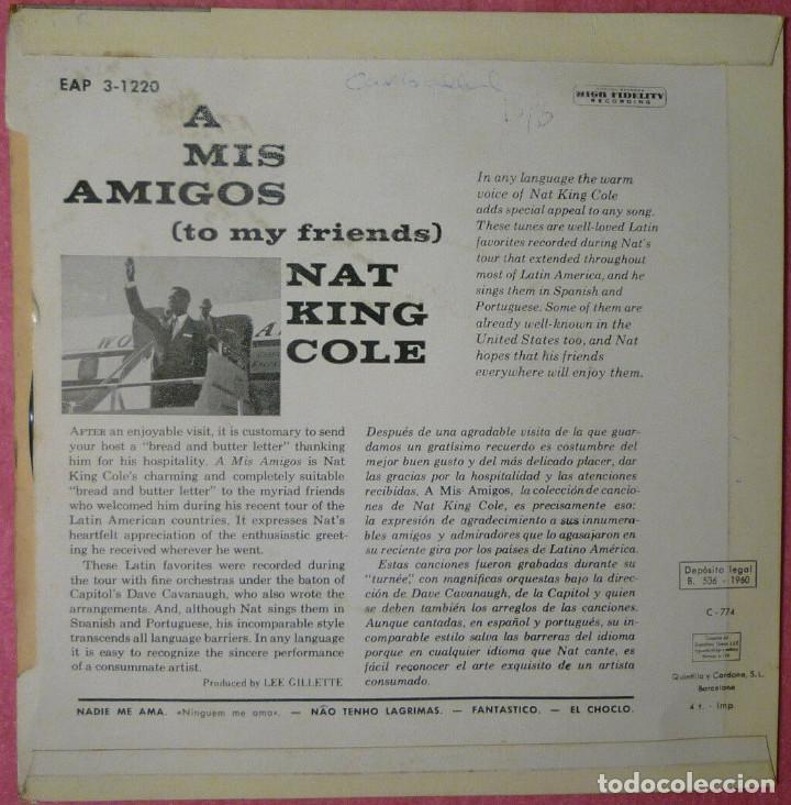 Discos de vinilo: EP NAT KING COLE - A Mis Amigos - Nadie Me Ama +3 - Capitol EAP 3-1220 - SPAIN press (EX-/EX-) - Foto 2 - 259830200