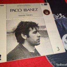 Discos de vinilo: PACO IBAÑEZ VISTO Y PINTADO POR ANTONIO SAURA LP 1970 POLYDOR CARPETA ABIERTA GATEFOLD. Lote 259830255