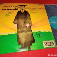 Discos de vinilo: LIVING BRASS MUSICA DE LA PELICULA EL GRADUADO BSO OST+EXITOS DE SIMON GARFUNKEL LP 1969 ESPAÑA. Lote 259831705