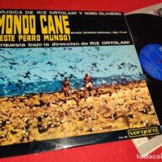 Discos de vinilo: MONDO CANE BSO OST LP 1964 VERGARA EDICION ESPAÑOLA SPAIN ORTOLANI&OLIVIERO. Lote 259833195