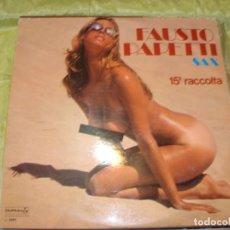 Discos de vinilo: FAUSTO PAPETTI SAXO. 15ª RACCOLTA.(SEXY NUDE COVER) DURIUM, 1977. IMPECABLE(#). Lote 259896970