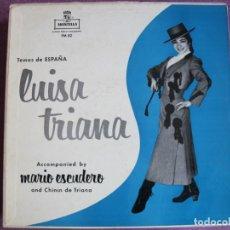 Discos de vinilo: LP - LUISA TRIANA CON MARIO ESCUDERO Y CHININ DE TRIANA - TEMAS DE ESPAÑA (USA, MONTILLA RECORDS). Lote 259899550