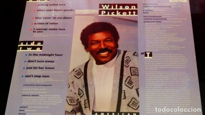 Discos de vinilo: Wilson Pickett LP * American Soul Man * 1987 USA * MOTOWN * PRECINTADO!! - Foto 3 - 259908400