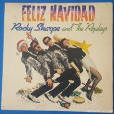 Discos de vinilo: EP / ROCKY SHARPE AND THE REPLAYS - FELIZ NAVIDAD, 1980. Lote 259921200