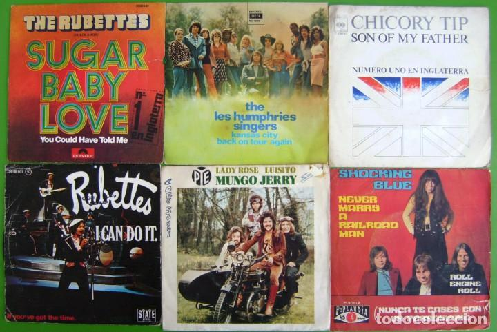 LOTE 6 SINGLES (THE RUBETTES, LES HUMPHRIES SINGERS, MUNGO JERRY, SOCKING BLUES, CHICORY TIP) (Música - Discos - Singles Vinilo - Otros estilos)
