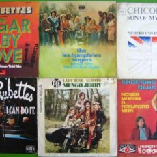 Disques de vinyle: LOTE 6 SINGLES (THE RUBETTES, LES HUMPHRIES SINGERS, MUNGO JERRY, SOCKING BLUES, CHICORY TIP). Lote 259922470