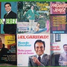Discos de vinilo: LOTE DE 6 SINGLES (3 DE MANOLO ESCOBAR Y 3 DE PAQUITO JEREZ). Lote 259923145