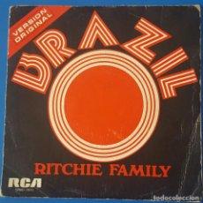 Discos de vinilo: SINGLE / THE RITCHIE FAMILY - BRAZIL, 1975. Lote 259924630