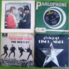Discos de vinilo: LOTE 3 SINGLES Y EP DE THE BEATLES Y 1 DE RINGO STARR (LEER). Lote 259927535