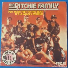 Discos de vinil: SINGLE / THE RITCHIE FAMILY - PUT YOUR FEET TO THE BEAT, 1979. Lote 259928505
