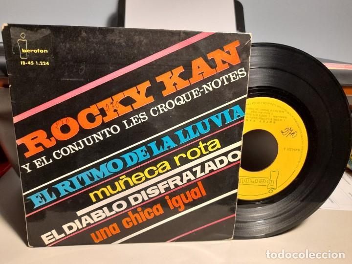 EP ROCKY KAN Y EL CONJUNTO LES CROQUE-NOTES : EL RITMO DE LA LLUVIA (Música - Discos de Vinilo - EPs - Solistas Españoles de los 50 y 60)