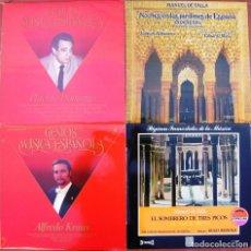 Discos de vinilo: LOTE 4 LP (PLACIDO DOMINGO, ALFREDO KRAUS, MANUEL DE FALLA). Lote 259945935