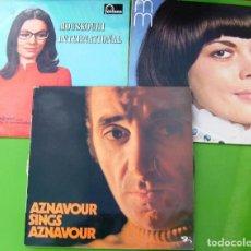 Discos de vinilo: LOTE DE 3 LP (NANA MOUSKOURI, MIREILLE MATHIEU, CHARLES AZNAVOUR). Lote 259948340