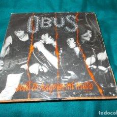Discos de vinilo: OBUS. SOLO LO HAGO EN MI MOTO / PESADILLA NUCLEAR. CHAPA DISCOS, 1982(#). Lote 259988200