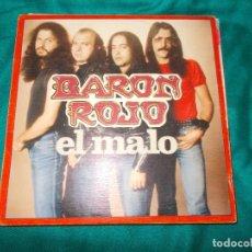 Discos de vinilo: BARON ROJO. EL MALO / ROCKERO INDOMABLE. CHAPA DISCOS, 1983. IMPECABLE(#). Lote 259988595