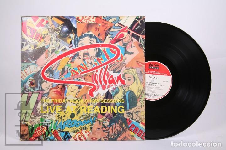 DISCO LP DE VINILO - GILLAN / LIVE AT READING '80 - RAW FRUIT RECORDS - AÑO 1990 - MADE IN UK (Música - Discos - LP Vinilo - Heavy - Metal)