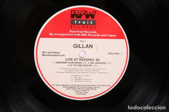 Discos de vinilo: Disco LP de Vinilo - Gillan / Live At Reading 80 - Raw Fruit Records - Año 1990 - Made In UK - Foto 2 - 260060965
