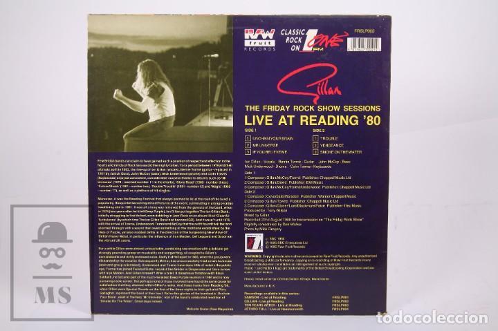 Discos de vinilo: Disco LP de Vinilo - Gillan / Live At Reading 80 - Raw Fruit Records - Año 1990 - Made In UK - Foto 3 - 260060965
