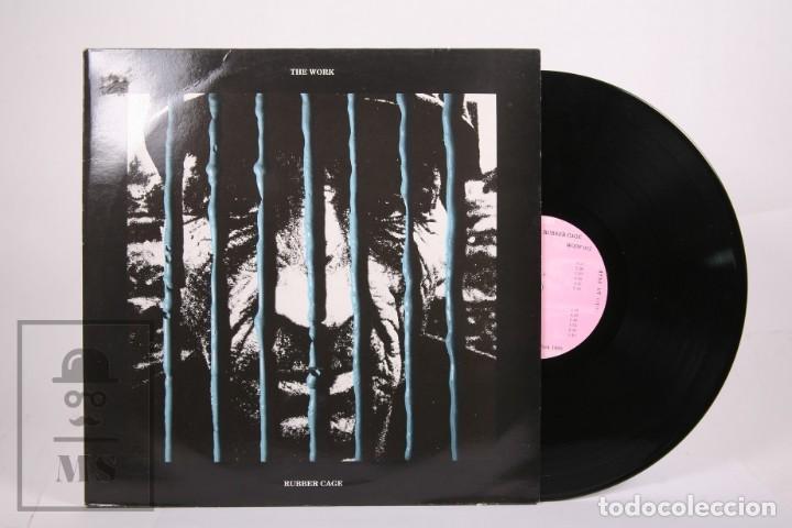 DISCO LP DE VINILO - RUBBER CAGE / THE WORK - WOOF RECORDS - AÑO 1989 (Música - Discos - LP Vinilo - Pop - Rock - New Wave Internacional de los 80)