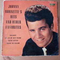 Disques de vinyle: JOHNNY BURNETTE'S HITS AND OTHER FAVORITES. Lote 260070815