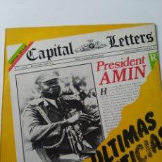 Discos de vinilo: CAPITAL LETTERS ULTIMAS NOTICIAS, 1980. EDIGSA. VERSIÓN ESPAÑOLA. REGGAE. DISCO VINILO LP.. Lote 260088220