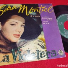 Disques de vinyle: SARITA MONTIEL LA VIOLETERA/MIMOSA +2 EP 1958 HISPAVOX ESPAÑA SPAIN. Lote 260092255