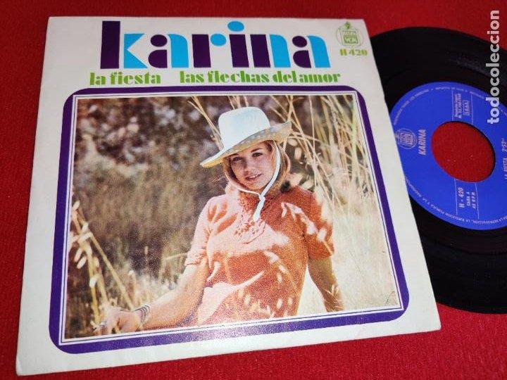 KARINA LA FIESTA/LAS FLECHAS DEL AMOR 7 1968 HISPAVOX SPAIN ESPAÑA (Música - Discos - Singles Vinilo - Solistas Españoles de los 50 y 60)