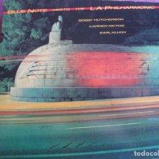 Discos de vinilo: LP - BLUE NOTE MEETS THE L.A. PHILHARMONIC - BOBBY HUTCHERSON, CARMEN MCRAE, EARL KLUGH. Lote 260097080
