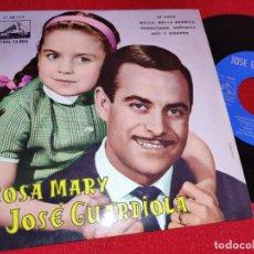 Disques de vinyle: ROSA MARY Y JOSE GUARDIOLA DI PAPA/BELLA,BELLA BAMBINA/PERMITIDME, SEÑORITA/+1 7 EP 1962. Lote 260098240