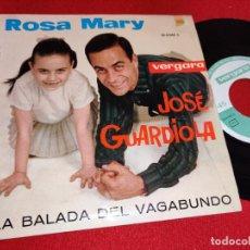 Disques de vinyle: ROSA MARY&JOSE GUARDIOLA LA BALADA DEL VAGABUNDO/LOS COMEDIANTES/BONANZA +1 EP 1963 VERGARA. Lote 260098400
