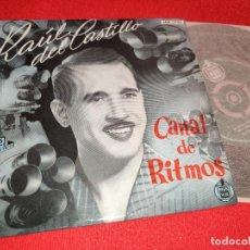 Disques de vinyle: RAUL DEL CASTILLO ALMA MIA/DIMINUTA/LAS MELLIZAS/NUNCA MAS EP HISPAVOX CANAL DE RITMOS. Lote 260099695