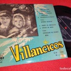 Disques de vinyle: MANOLO ESCOBAR + CANALEJAS DE PUERTO REAL VILLANCICOS EP 7 1961 CID 33 RPM 6 CANCIONES MUY RARO!. Lote 260105930