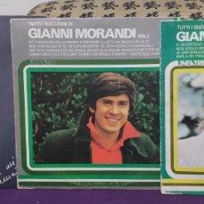 Discos de vinilo: PACK DE 3 VINILOS GIANNI MORANDI. VOL.1, VOL.2 LA MIA NEMICA AMATISSIMA. Lote 260110925